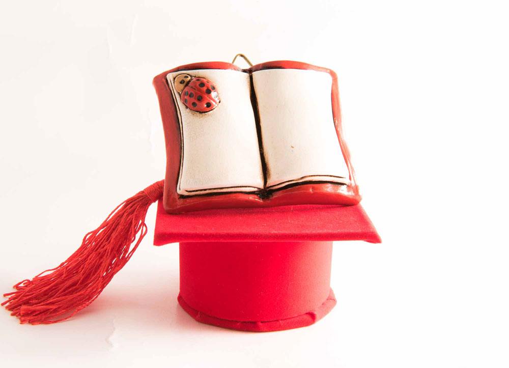 Libro di laurea in ceramica lucida for Libro in ceramica